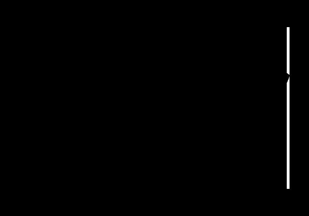 Kitchen knives logo black with transparent background